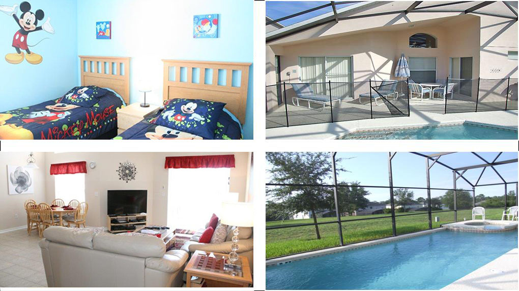 Emerald Island Resort Kissimmee Florida - Retreat Villa 2 collage